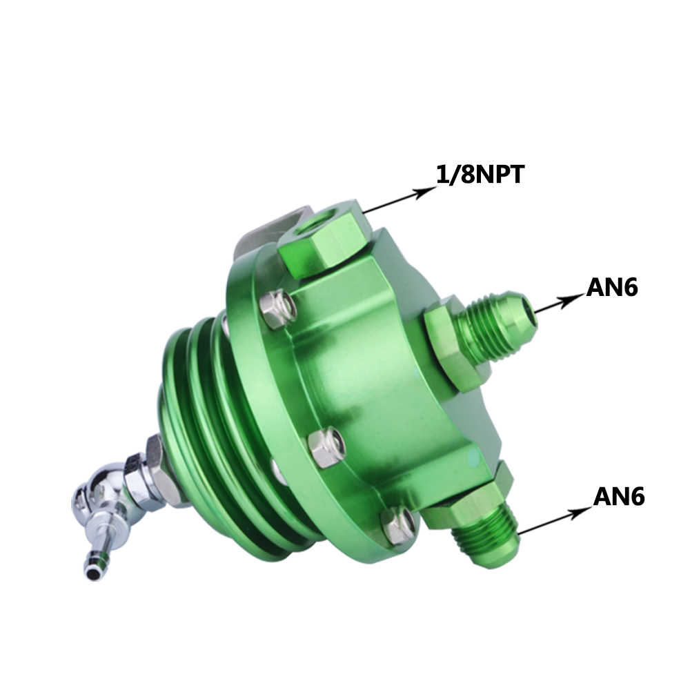 Mal energía de alta calidad de aluminio ajustable regulador de presión de combustible FPR con medidor de enfriador de aceite Kit medidor de aceite JDM Kit