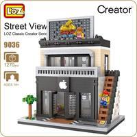LOZ Diamant Blok Street Mini Nano Bouwstenen Speelgoed Voor kinderen Winkel Model Mobiele Telefoon Winkel Mini Stad Bricks Building 9036