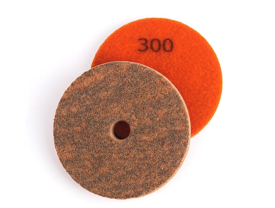 1 almohadilla pulidora de diamante de 4 pulgadas para piedra de granito resistente con disco de lijado para granito m/ármol al azar