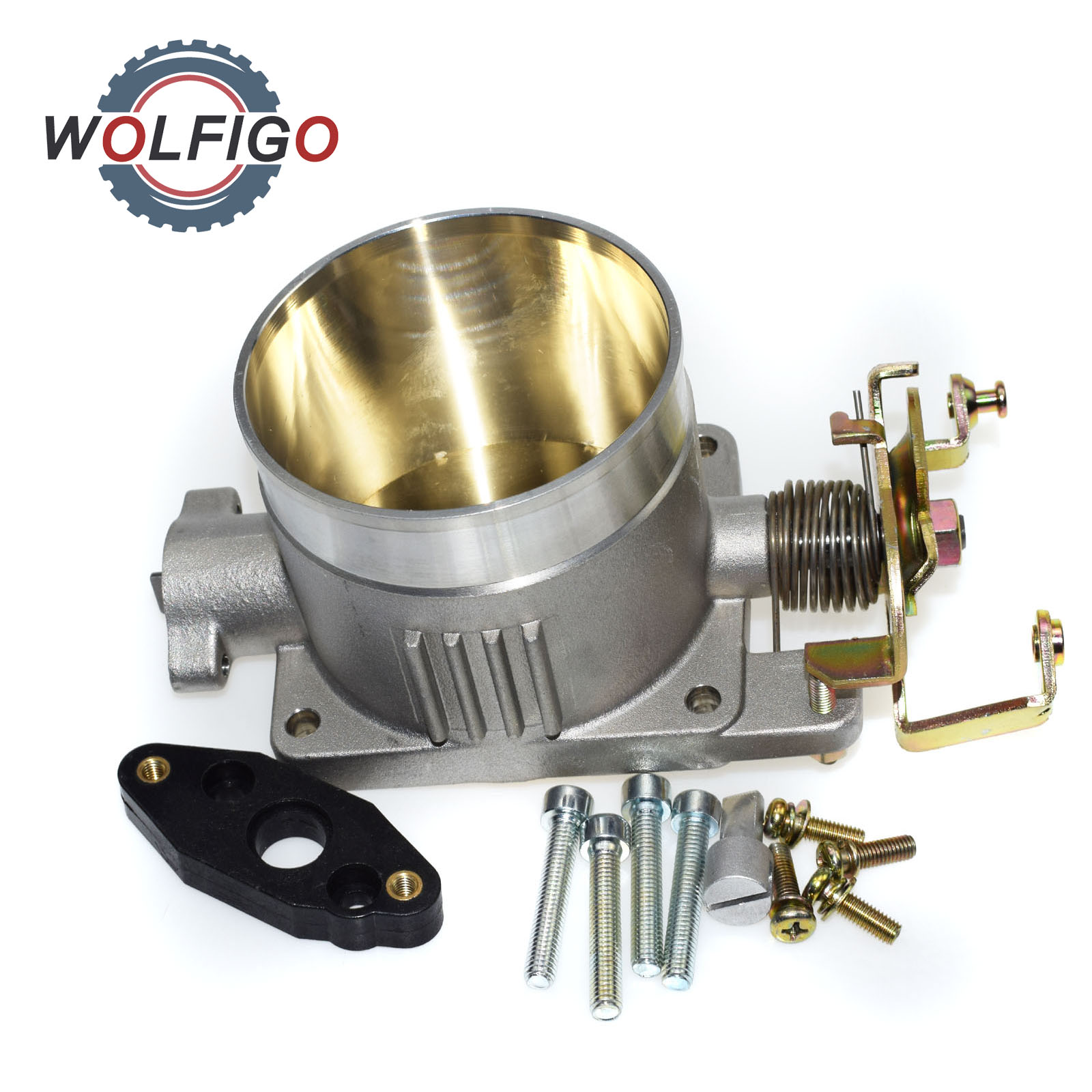 WOLFIGO New Intake Throttle Body Direct Bolt WITH for MUSTANG 4 6L 2V 75MM