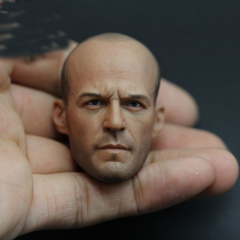 "1/6 Jason Statham Head Sculpt Fast and Furious 8 Death Squads Head Carving for 12"" Figure Doll Action Figure Accessory"