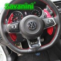 Savanini Steering Wheel Shift Paddle Extension For VW Golf 7 R Polo GTI Scirocco Sagitar GLI MK7 Lamando GTS Auto Car styling
