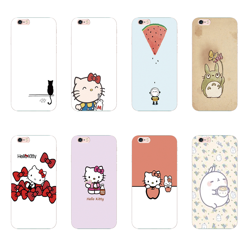 For Apple iphone 4 4S 5 5 5s 5c 6 6s 7 Plus 7plus 6plus phone cases cute cartoon animals Hello Kitty design hard co