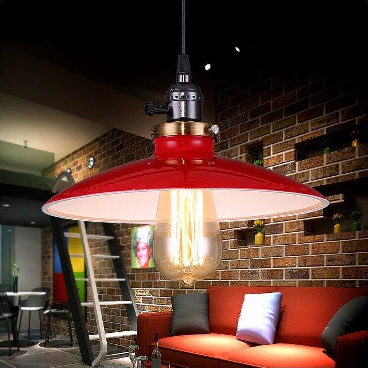 ФОТО 3 COLORS Nordic European American industry Bar Cafe restaurant Retro loft den LOFT creative personality style UFO chandeliers