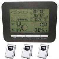 Trạm thời tiết Kỹ Thuật Số Barometer Clock Với Nhiệt Kế Đo Độ Ẩm Không Dây Trong Nhà Ngoài Trời Ẩm Nhiệt Độ Đo & Alarm