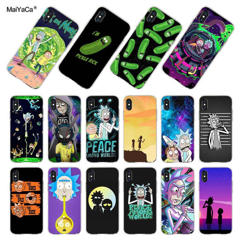Maiyaca para o iphone 7 6 x caso rick e morty pickle rick coque escudo caso de telefone para o iphone 7 6x8 6s mais 5 5S se xs xr caso