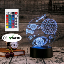 3D Led Novety Lighting Creative Gift Night Light  Table Lamp Bedside Space Light Led Home Corridor Hotel Party Atmosphere Lights