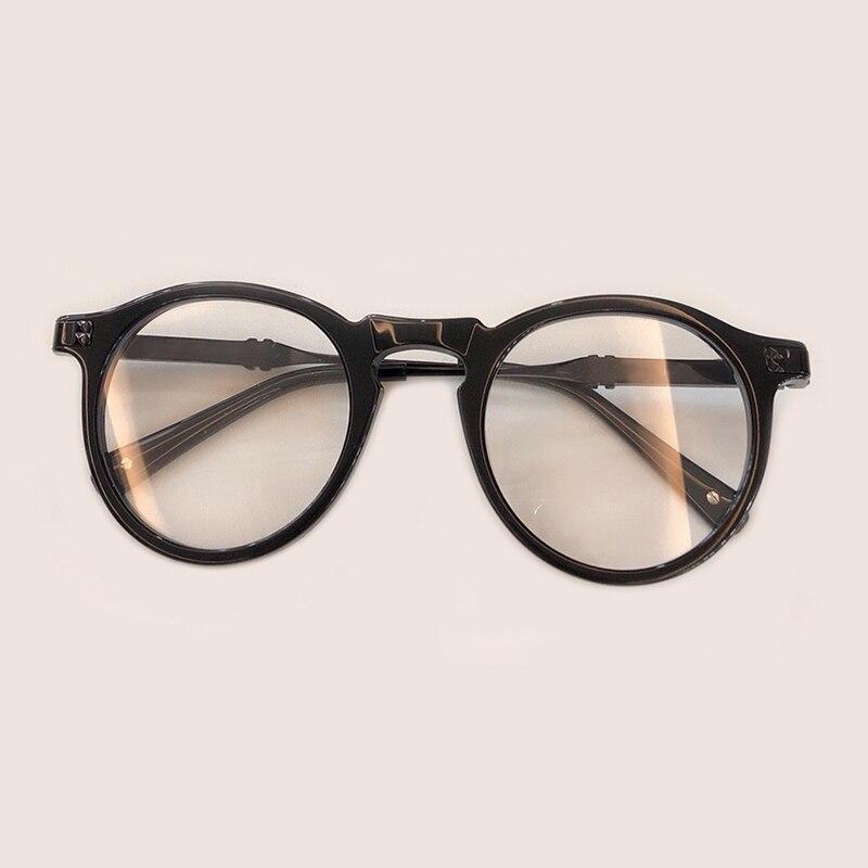 New man Woman Retro Round Glasses 2019 Acetate Frame eyeglass frame Black Spectacles Eyeglasses Brand Designer Glasses Frames