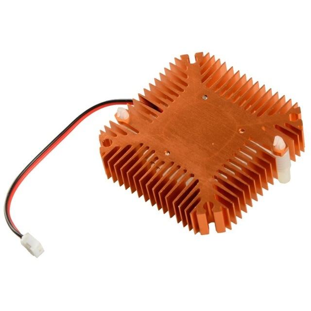 Pour ordinateur personnel composants ventilateurs refroidisseur 55mm 2 broches cartes graphiques ventilateur de refroidissement en aluminium or dissipateur thermique refroidisseur ajustement