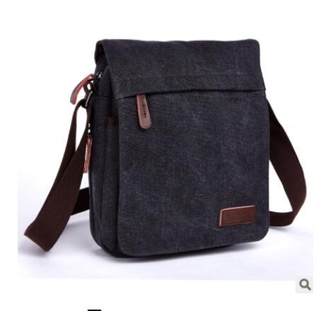 Men/'s Small Vintage Multipurpose Leather Shoulder Bag Messenger Bag Purse Black