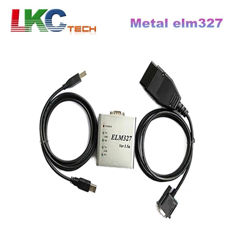 Prix pour 2017 Nouvelle Arrivée Métal ELM 327 1.5 V USB CAN-BUS Scanner ELM 327 Métal ELM327 Logiciel OBD2