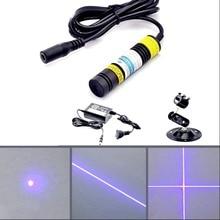 High power blue-violet laser module 405 nm 300 mW blue-violet laser light can Lit cigarettes Lit matches With power bracket
