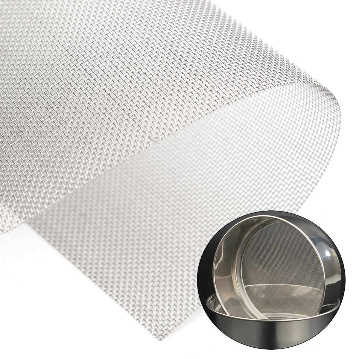 1pc 15x15cm Stainless Steel Woven Wire High Quality <font><b>Screening</b></font> Filter Sheet 30 Mesh image