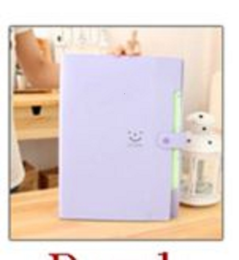 US $3 49 |New10 Color A4 Kawaii Carpetas Smile Waterproof Carpeta File  Folder 5 Layers Arc-in File Folder from Office & School Supplies on