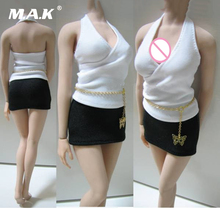 1/6 scale female girl woman action figures business suit T shirt and skirt for 12 inches lady bodies dolls clothing clothes set цена в Москве и Питере