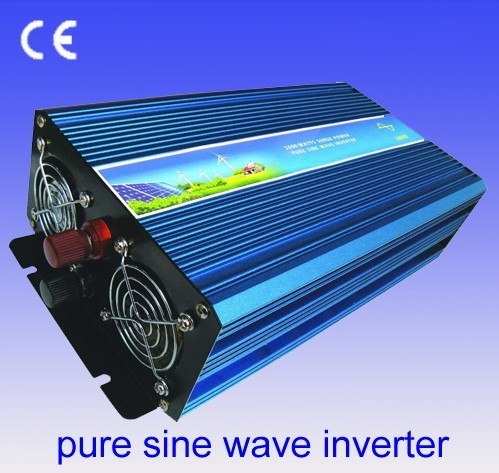 dc 24V to ac 220V 2400w / 1200w Peak Remote control pure sine wave power inverter high quality converter DHL FEDEX SHIPPING