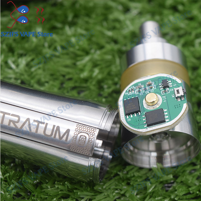 FTK 316L Stainless Steel mech Stratum zero mod with KAYFUN LITE rta 18650 20700 21700battery hot inEurope 26mm mechanial vapemod in Electronic Cigarette Kits from Consumer Electronics
