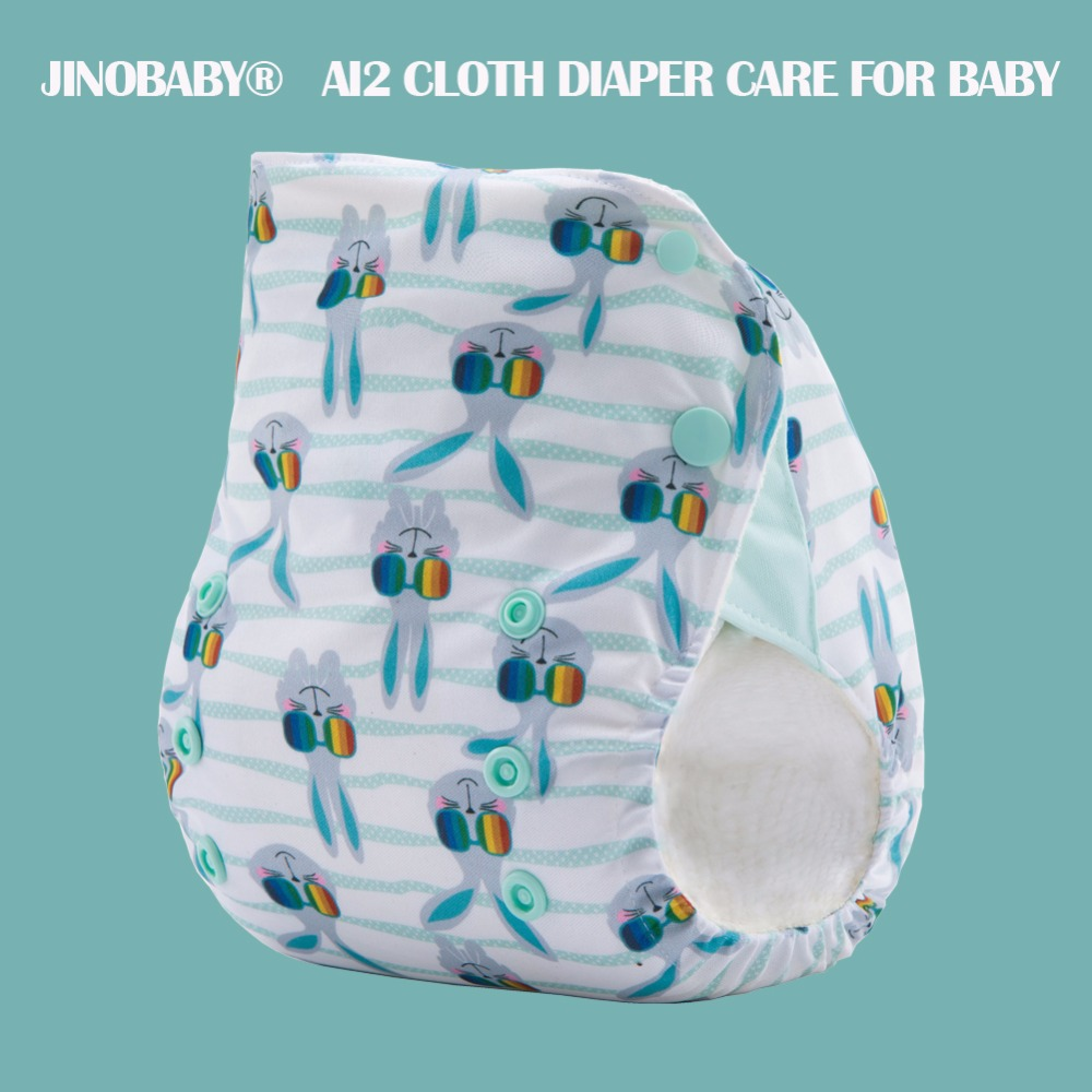 JinoBaby Bamboo Aio Diapers - Cool Bunny