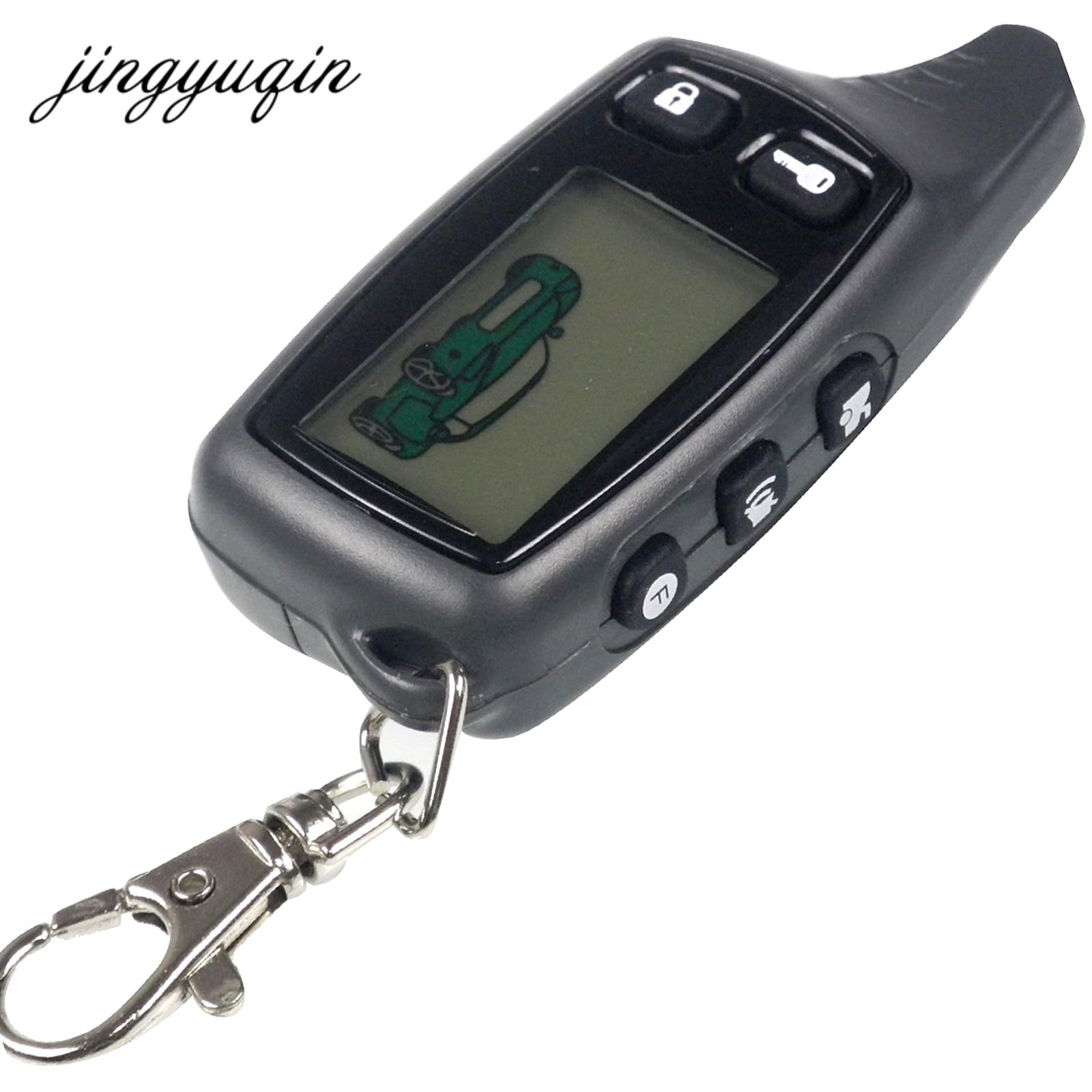 Jingyuqin Nouveau Pour Tomahawk TW9010 LCD Télécommande Deux Voies Système D'alarme de Voiture Russe 9010 porte-clés Fob