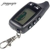 Jingyuqin Nuevo Para El Sistema de Alarma Del Coche de Dos Vías Tomahawk TW9010 Remoto LCD Ruso 9010 llavero Fob