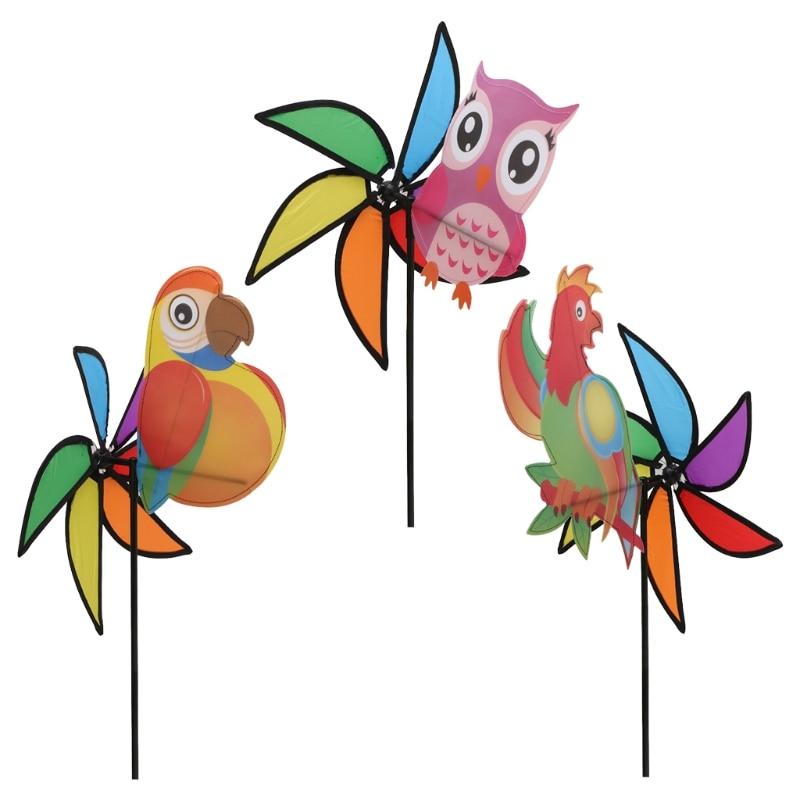 Hot Sale 3D Large Cute Animal Windmill Wind Spinner Whirligig Yard Garden Decor Kids Toys