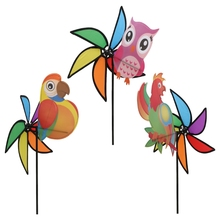Hot Sale 3D Large Cute Animal Windmill Wind Spinner Whirligig Yard Garden Decor Kids Toys