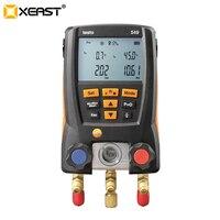 Medidor de pressão de refrigeração testo 549 lcd digital manômetro 2 válvulas sistema para hvac 0560 0550 Medidores de pressão     -