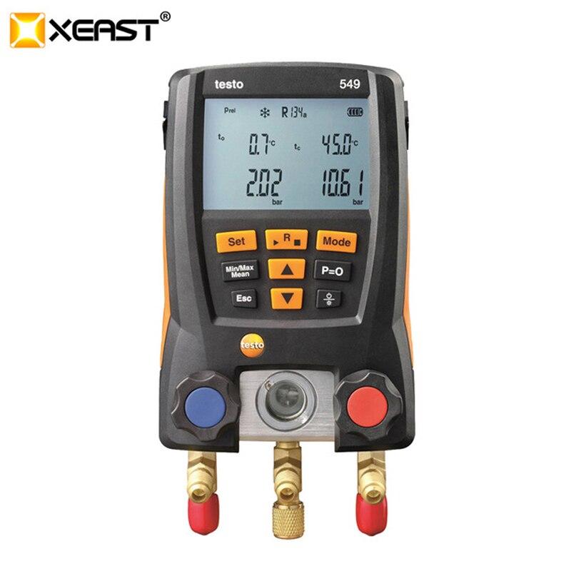 Pressure Gauge Refrigeration Testo 549 LCD Digital Manometer 2 Valves System for HVAC 0560 0550