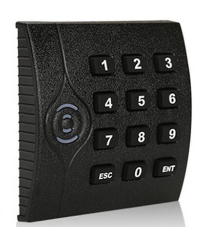ZK RFID keypad reader,IC reader,13.56M, waterpoof for access control system WG34 10-digit output,black color,sn:KR202M, min:5pcs rfid ic reader ip65 waterproof black color mf card reader for door access control system weigand34 13 56mhz sm kr201 min 5pcs
