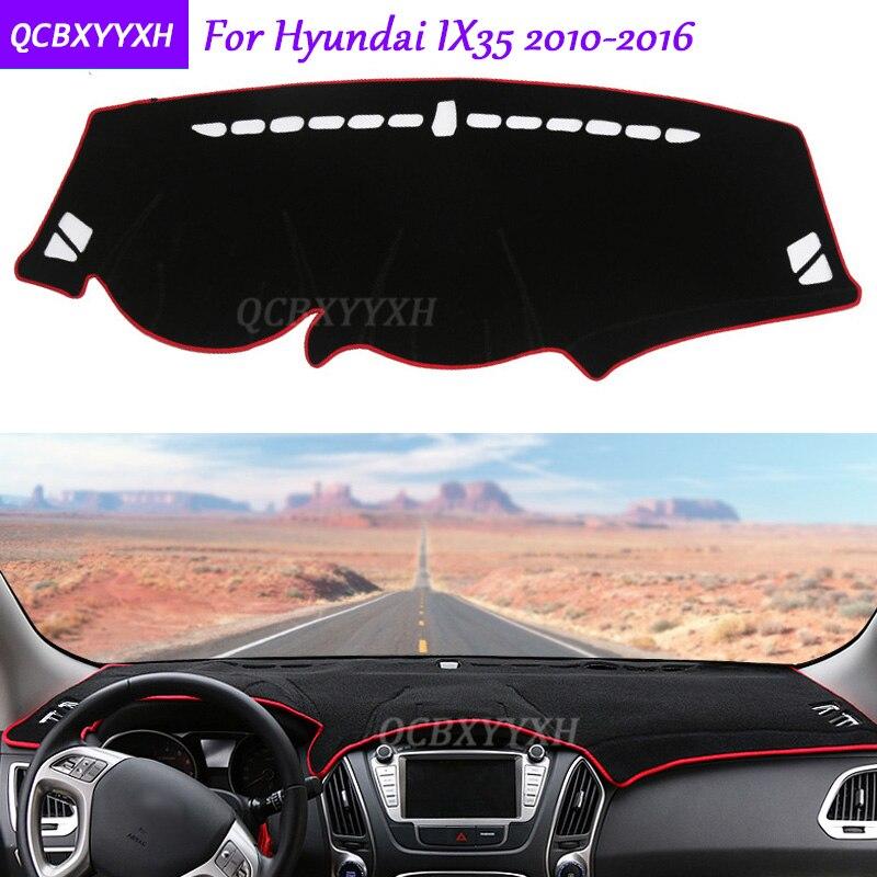 For Hyundai IX35 2010 2016 Dashboard Mat Protective font b Interior b font Photophobism Pad Shade