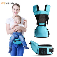 BabyLab Mesh Cloth Breathable Multi function Baby Carry Straps Baby Backpack Carrier Waist Stool Hipsit Kangaroo Newborn Carrier