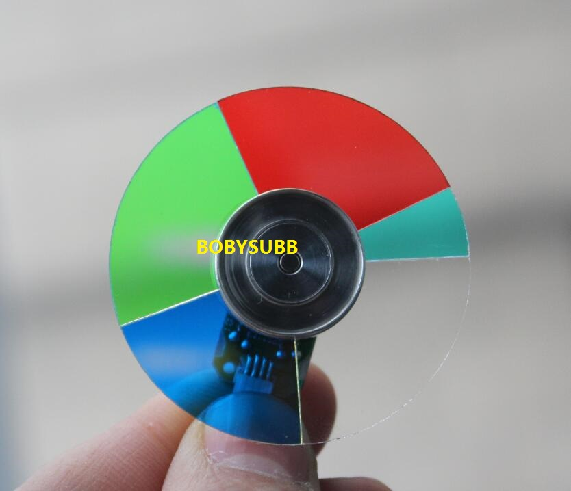 Good Quatily & New For PROJECTIONDESIGN F12 F10 DLP Projector Color Wheel 5 Segment Diameter 48mm 4 segment diameter 44mm projector color wheel fit for del 3200mp