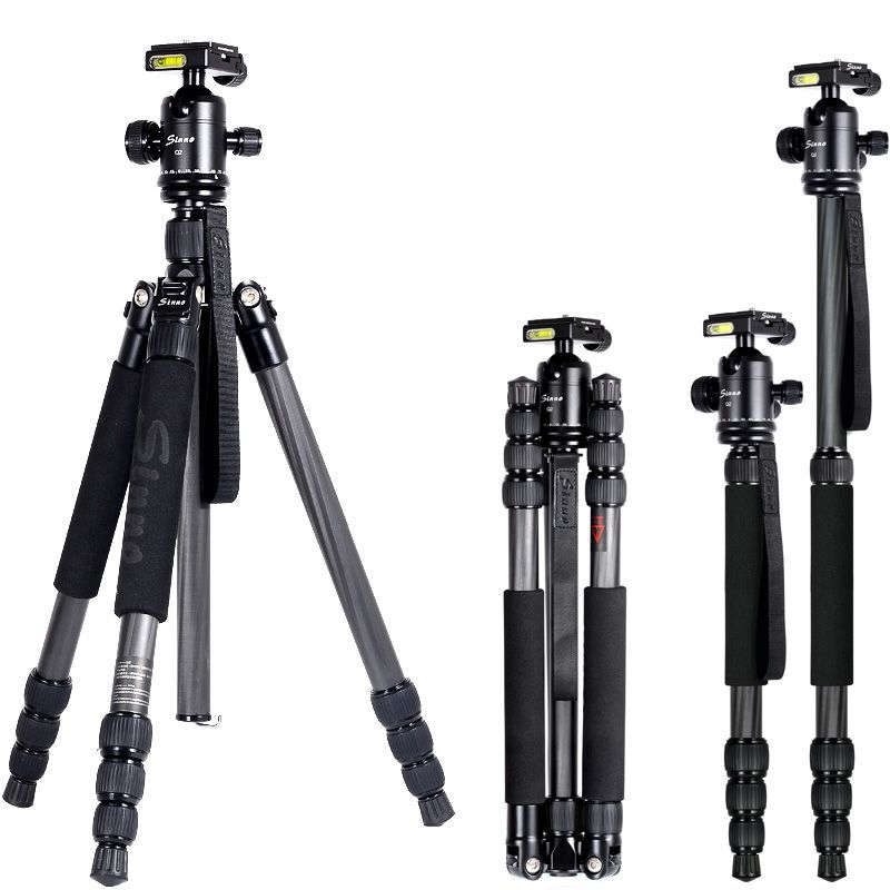 2014 New Sinno F-3425Z Professional SLR camera monopod carbon fiber tripod head accessories portable free shipping