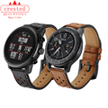 22 мм кожаный ремешок для часов Huawei GT-2-2e-pro 46 мм Смарт-часы браслет для Samsung Gear s3 frontier Galaxy watch 3 45 мм/46 мм длина браслета