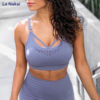 New Release Energy Seamless sports bra high impact workout gym bra fitness yoga bras backless active sports wear gym crop top