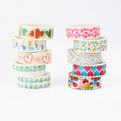 1 Pcs DIY 20 Style Washi Tape Paper Decorative Adhesive Tape Masking Tapes Stickers Size 15mm*5m Masking Tape School Office Supp