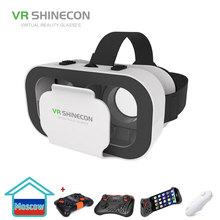 VR SHINECON G05A okulary 3D VR Headset dla 4 7-6 0 cali Android iOS smartfony tanie tanio Wciągające Spolaryzowane Podwójny Tylko okulary Lornetki Smartfonów