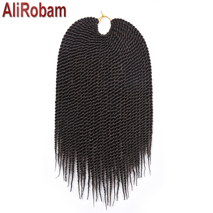 AliRobam Havana Mambo Twist Crochet Braid Hair Synthetic Ombre Brown Senegalese Twist Crochet Twist Braid 30strands Per Piece