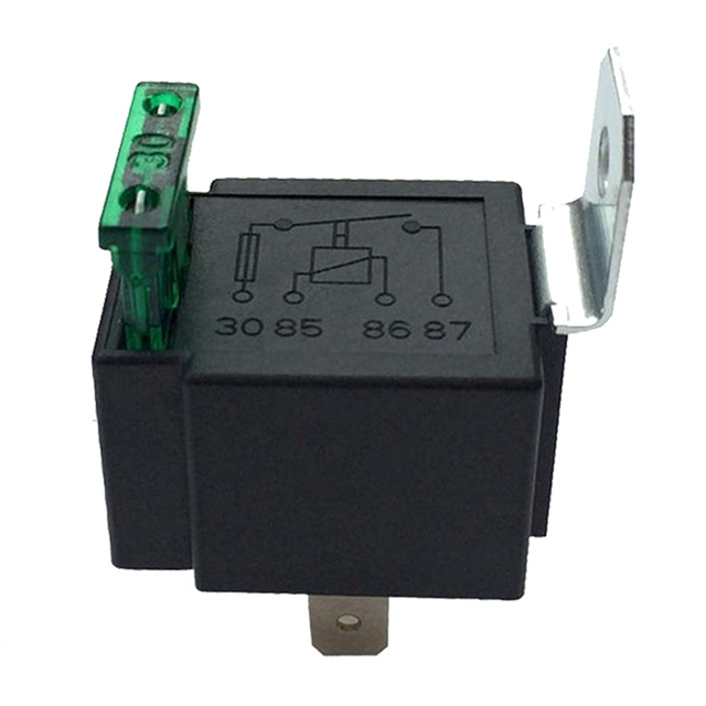 Waterproof Fused On/Off Automotive Fused Relay 12V 30A 4-Pin Normally Open Car Bike Terminal Auto Relay With Relay Socket