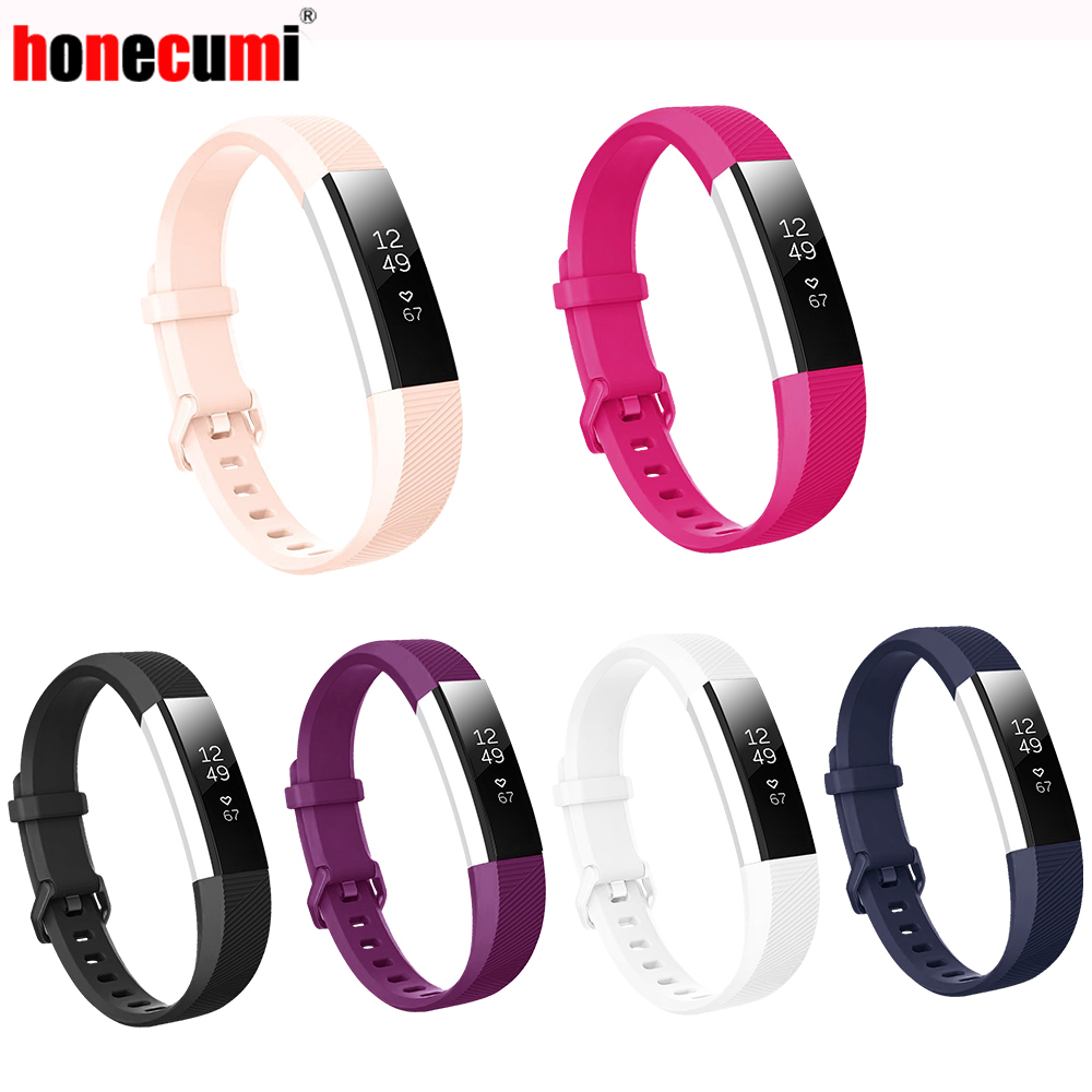 Honecumi Bracelet Replacement-Band Wrist-Strap Fit-Bit Silicone Alta High-Quality