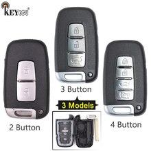KEYECU para Hyundai Equus Genesis Veloster Elantra Carro Sonata Substituição Virar Folding Remoto Chave Shell Caso Fob 2/3 /botão 4