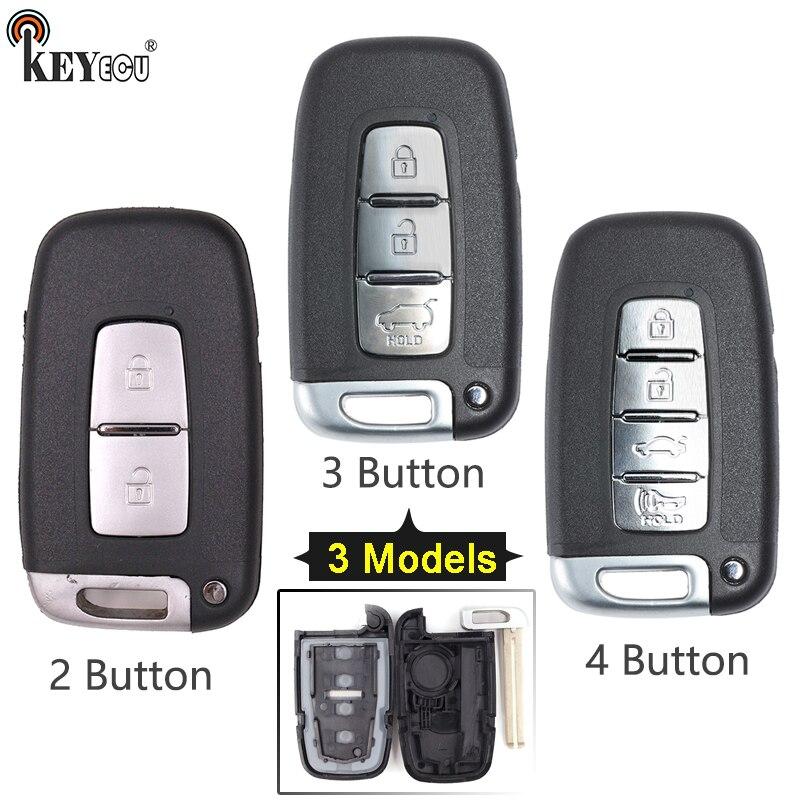 KEYECU pour Hyundai Equus Genesis Veloster Elantra Sonate Remplacement Flip Pliant À Distance De Voiture Shell Key Case Fob 2/3 /4 bouton