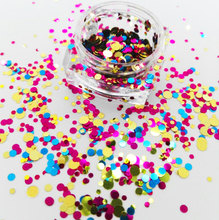 Nail Art Glitter Mix Sequins Pigment Acrylic UV Gel Tips Dots Circle Shape Spangle 1/2/3 mm for #10