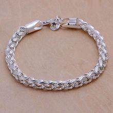 7b3fed153572 Estilo de verano fina 925 pulsera de plata esterlina 925-Sterling-Silver  joyas pulseras de cadena bijouterie para hombres SB070