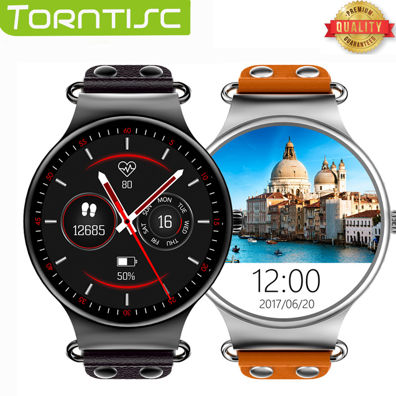 Newest Torntisc Smart Watch Android 5 1 OS 1 39 IPS OLED screen 512MB 8GB Support