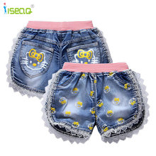 girls baby and kid girl jeans short pants cartoon girls shorts summer kids children denim jeans shorts trousers