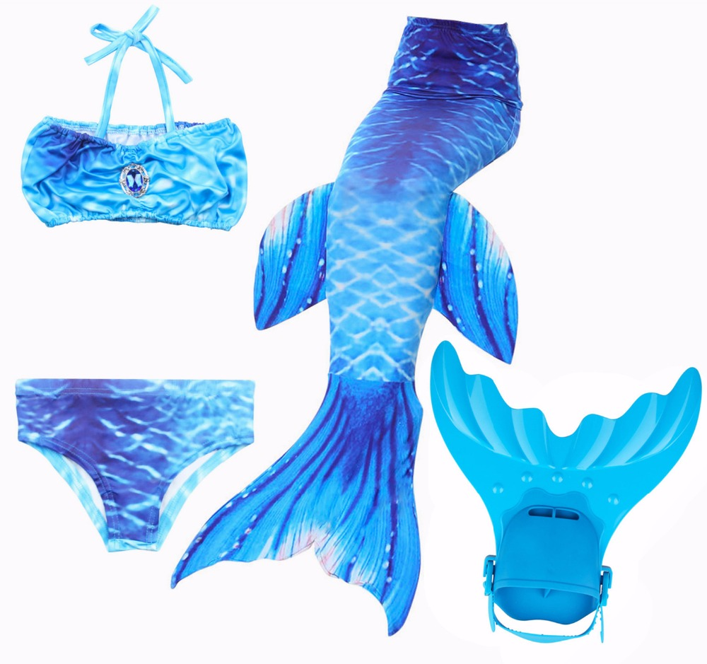 2017 Newest Kids Baby Girls Diamonds Mermaid Tail Costume Summer Holiday Swimsuit Swimmable Children Mermaid Tail Mermaid suit
