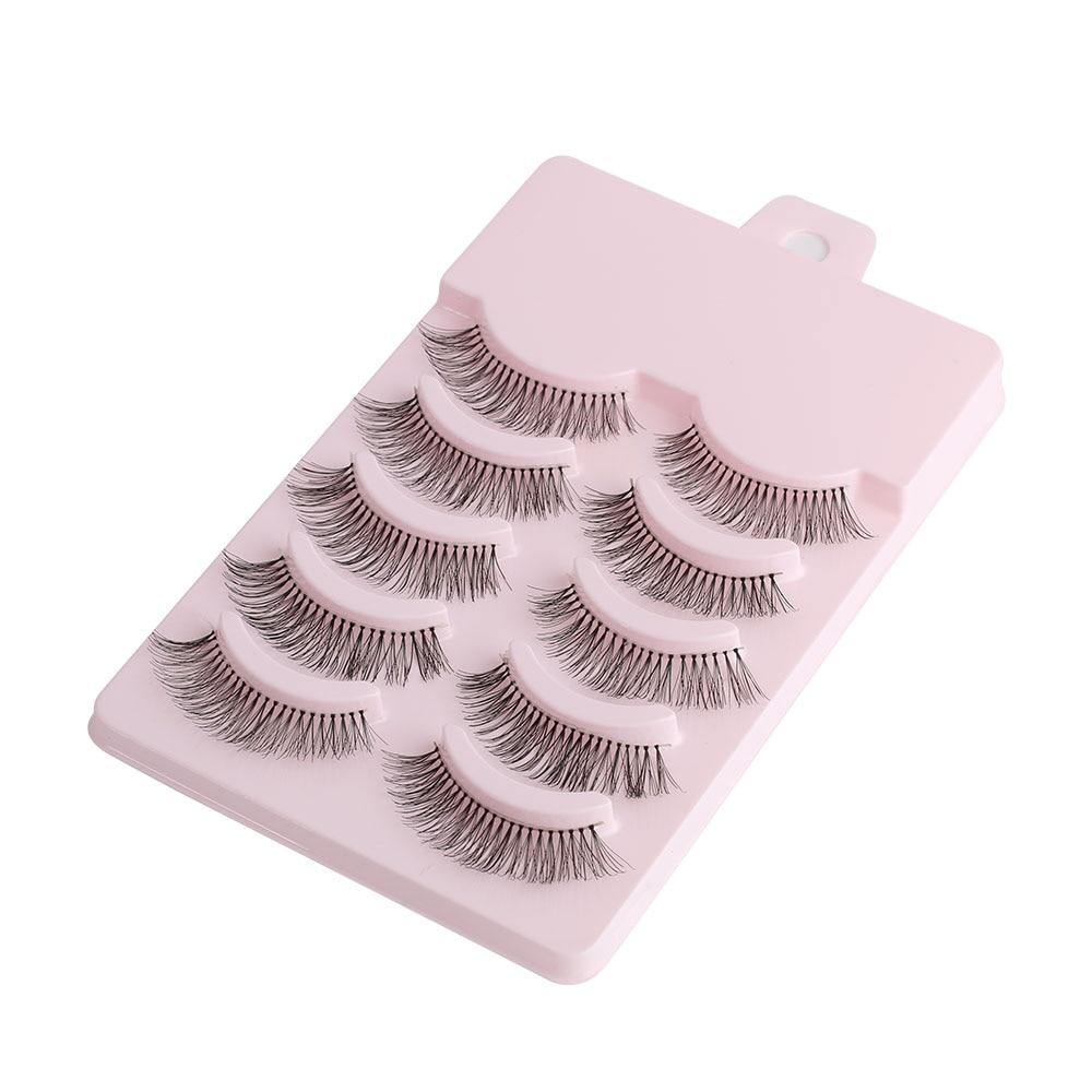 5 Pairs Handmade Natural False Eyelashes Popular Messy Paragraph Sparse Cross Eye Lashes Beauty Eyelash Extension Tools