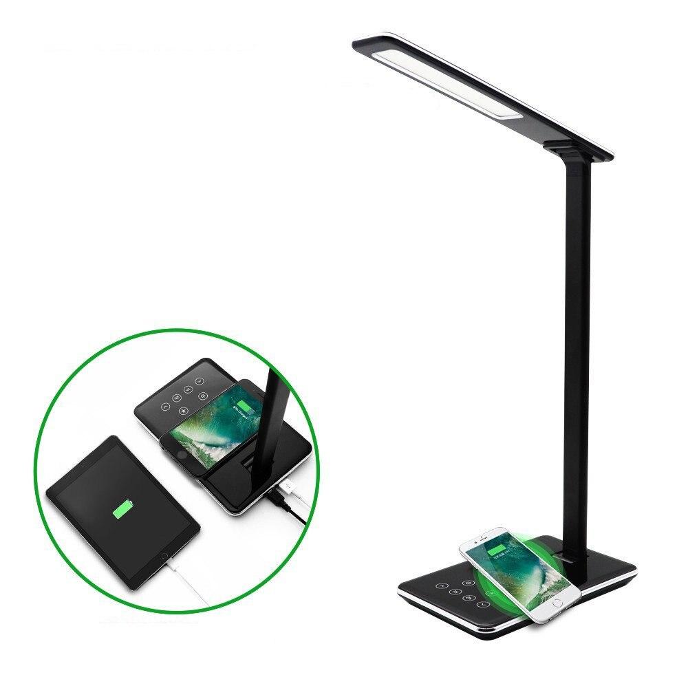 Chargeur sans fil Qi avec LED lampes de bureau pour Samsung iphone Nokia Lumia 1520 chargeur de bureau sans fil chargeur de bureau USB