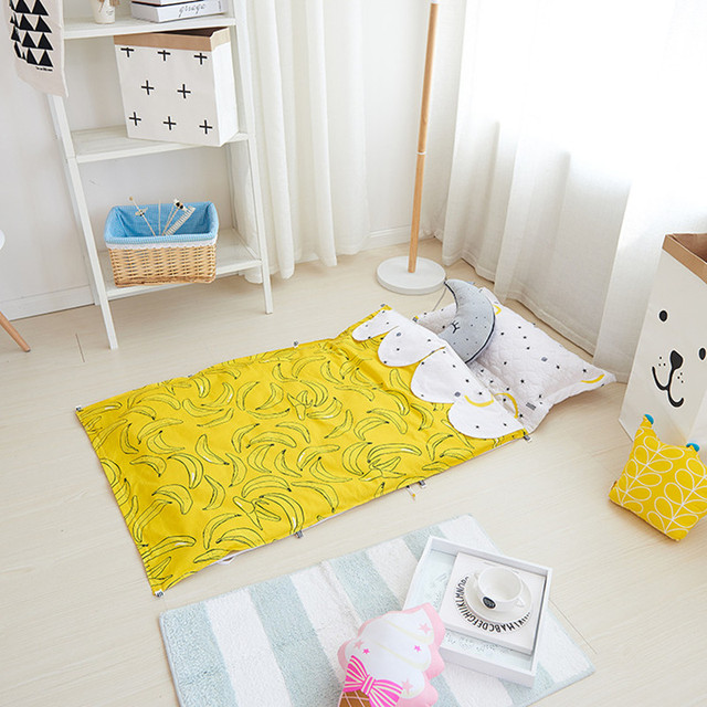 Hot Cartoon Ins Crib Bed 100% Cotton 3PCS Baby Bedding Set Pillow Case+Bed Sheet+Duvet Cover without filling Sleeping Bag